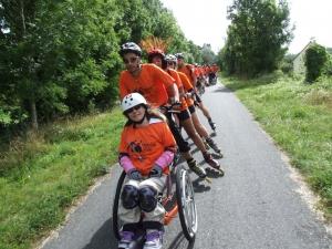 randonnées fauteuils roulants/rollers mobile en ville