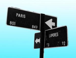Panneaux Londres et Paris