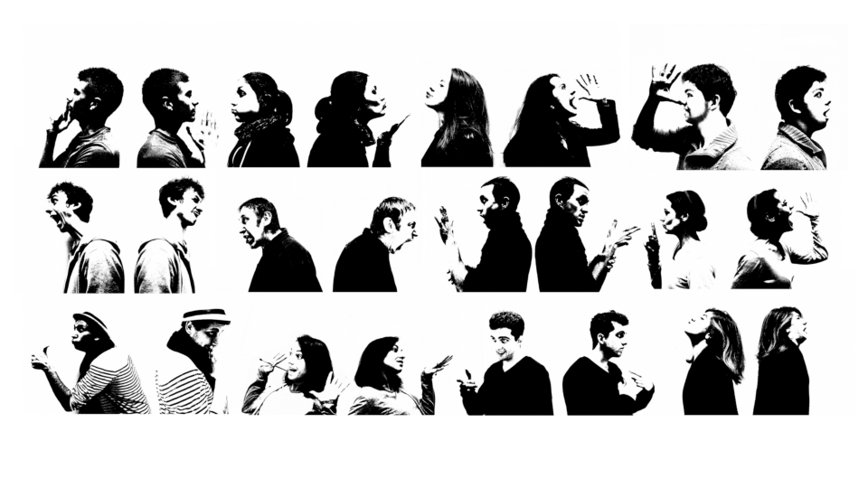 Langage des signes: Personnes qui discutent